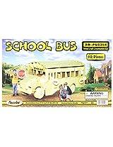 Puzzled, Inc. 3D Natural Wood Puzzle - School Bus