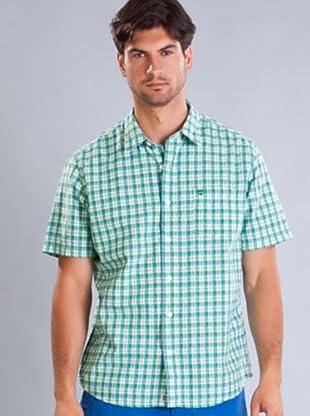 Timberland Camisa (Verde / Azul)