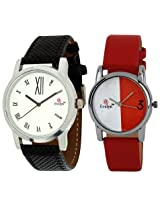 Evelyn Combo of Analogue Multi-Colour Dial Unisex Watch - Combo-R-215