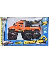 Maisto Builder Zone Quarry Monsters Tow Truck Die Cast Toy Truck (Orange)
