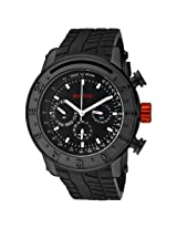 red line Men's RL-10120 Tread Black Dial Black Silicone Watch