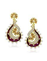VK Jewels Royal Red Earring set -ERZ1130G [VKERZ1130G]