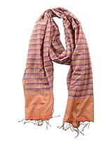 Dushaalaa Women's Scarves (10181_Orange, Orange, L x B : 71 Inches X 24 Inches)