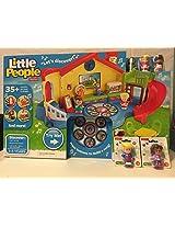 Fisher-Price Little People Musical Preschool Playset AND Little People Teacher AND Little People Edd