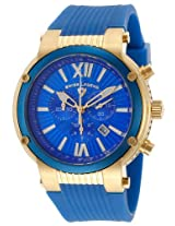 Legato Cirque Chrono Blue Silicone And Dial Accents Gold-Tone Case (10006-Yg-03-Blb)
