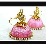 pink hanging earring