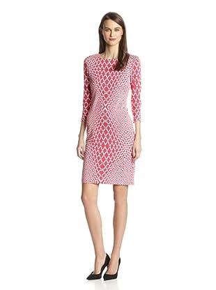 Karen Kane Women's Optic Sheath Dress (Coral)