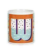 Chumbak Alphabet W Coffee Mug, 300ml