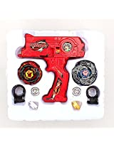 Imported 4D Launcher Grip Beyblade Set - Red