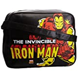 Logoshirt Unisex-Adult Marvel Iron Man Fake Landscape Format Messenger Bag
