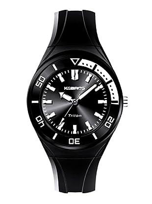 K&BROS 9176-1 / Reloj de Señora con correa de caucho negro