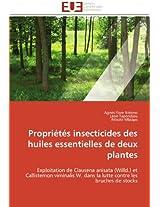 Proprietes Insecticides Des Huiles Essentielles de Deux Plantes (Omn.Univ.Europ.)