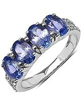 Silverona Tanzanite Silver Ring