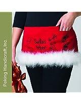 Christmas Apron Santa's Helper Waist Apron with Pockets by Peking