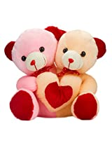 Glitter's Made for Each Other Teddy Pink(18 inch)