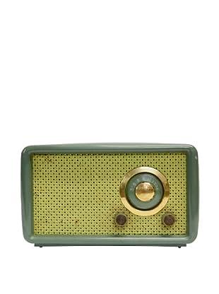 Vintage Montgomery Ward Airline Radio, Sage/Leaf
