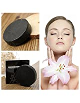 Bamboo Charcoal Handmade Soap Whitening Oil-control Blackhead Removal (Color: Black)