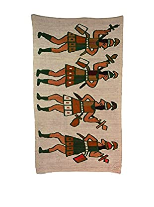 Hand Woven Warrior Rug, Multi Colored