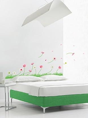 Vinilo Adhesivo Gerbera y herbia Multicolores