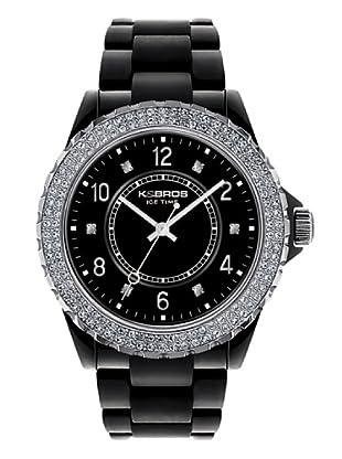 K&BROS 9558-4 / Reloj de Señora  con correa de plástico negro