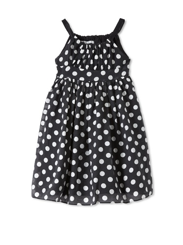 Pippa & Julie Girl's Dot Dress (Black)