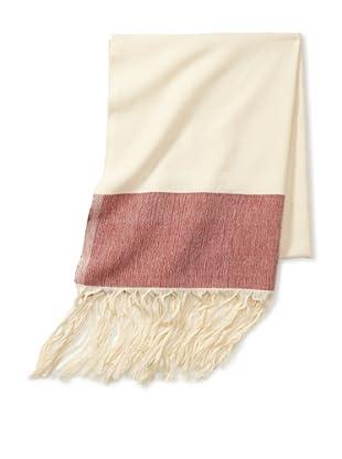 Mili Designs Women's Marrakesh Cotton Scarf (Cream/Red)
