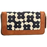 Orla Kiely Flower Shadow Dot Print Big Zip Wallet