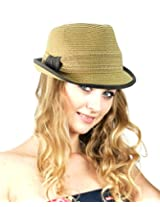 NYfashion101 Spring Summer Simple Band Short Brim Stylish Classic Fedora Hat Natural