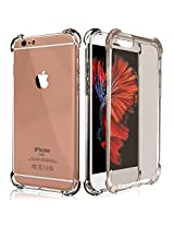 iPhone 6s Plus / 6 Plus Case, E LV Apple iPhone 6s Plus / 6 Plus Case Cover - Clear Soft Rubber Hybrid Armor Defender Protective Case Cover for iPhone 6s Plus / 6 Plus (5.5 Inch) - BLACK