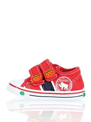 Gorila Zapatillas Basket Velcro (Rojo)