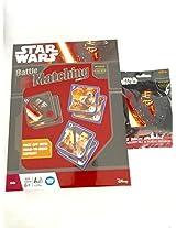 Disney Star Wars Battle Matching Game Set with Puzzle Erasers Bundle Set