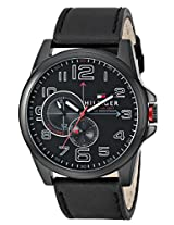 Tommy Hilfiger Men's 1791005 Analog Display Japanese Quartz Black Watch