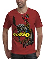 Grasshopr Mens Cotton Printed T-Shirt, Rodeo Design