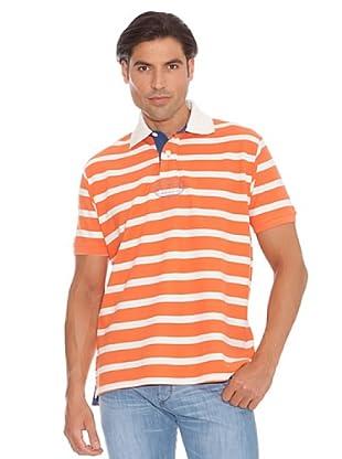 PEDRO DEL HIERRO Polo Rayas (Naranja / Crudo)
