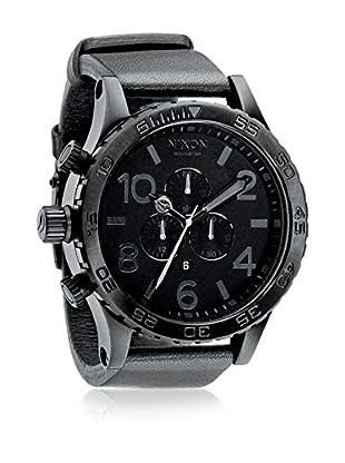 Nixon Uhr mit japanischem Quarzuhrwerk Man A124-001 Black