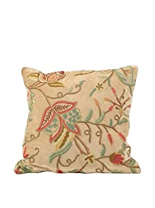 "John-Richard Collection Floral Silk Pillow, 22"" x 22"""