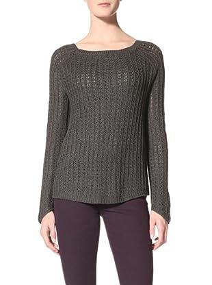 Suss Knitwear Women's Charli Thermal Raglan Boatneck (Dark Charcoal)