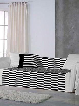 ANGEL SCHLESSER Foulard Basic (negro / blanco)