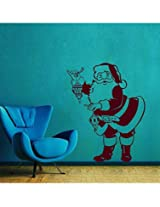Santa With Lamp Wall Sticker Decal