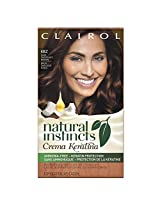 Clairol Natural Instincts Crema Keratina Hair Color Kit, Dark Chocolate Brown 4BZ Macchiato Creme