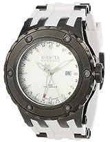 Invicta Men's 12047 Subaqua Reserve GMT Silver Dial White Rubber Watch