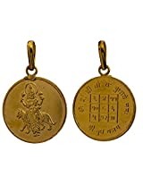 Budh (Mercury) Pendant with His Yantra on the Reverse - Navagraha (The Nine Planet Series) - Gold Pl