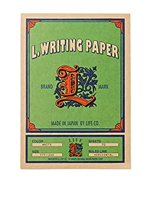 Life Co., Ltd. L. Writing Paper Ruled Letter Pad, Green