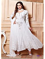 Rozdeal Sangeeta Ghosh Latest Designer White Ankle Length Anarkali Suit