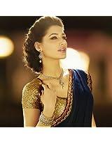 Nargis Fakhri Blue Bollywood Saree By Vamika