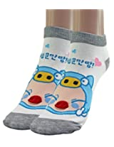 1 Pair Mixed Cotton Unisex ANKLE SOCKS for Women's Ladies - L67