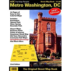 Metro Washington, D.C., Street Map Book (Adc the Map People Washington D.C. Street Map Book)