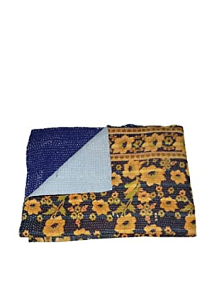 Large Vintage Preeti Kantha Throw, Multi, 60