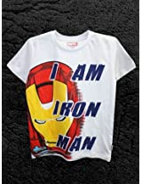 Avenger White Half Sleeve T-Shirt