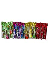 Gift Sets - Pack Of 12 - Colorful Rulers - Different Shapes Rubbers - Different Color Whistles - Pencils Colorful Sharpeners